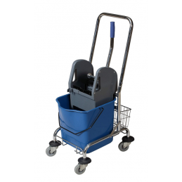 wózek-do-sprzątania jednowiaderkowy-z-koszykiem-niebieski-szary-4z