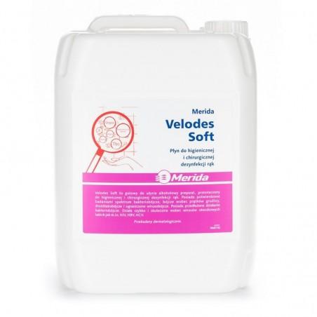 Płyn do chirurgicznej i higienicznej dezynfekcji rąk Velodes Soft  5 l