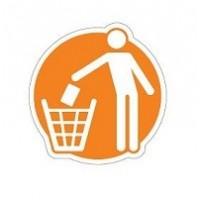 Naklejki na kosze do sergegacji odpadów